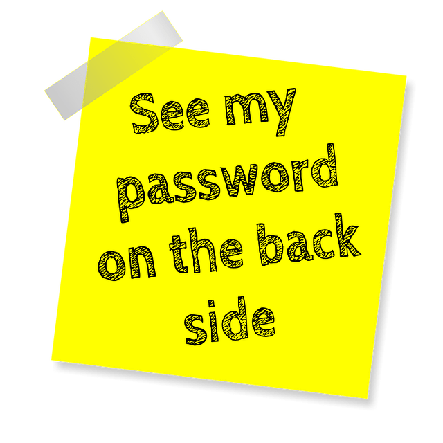 small business password do not put on sticky note
